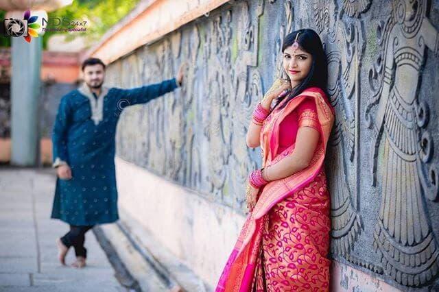 Pondicherry Couple Photoshoot Inside Temple
